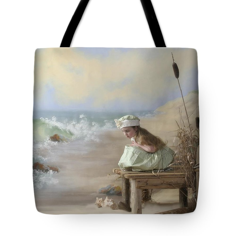 Canada Tote Bag featuring the photograph A Girl Posed By The Seashore Victoria by Pete Stec