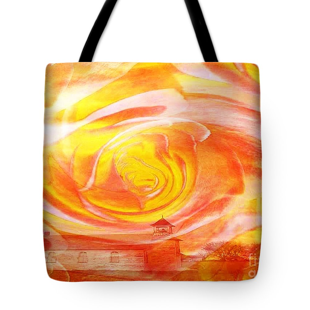 A Glorious God By Painterartistfin Art Print Tote Bag featuring the painting A Glorious God by PainterArtist FIN