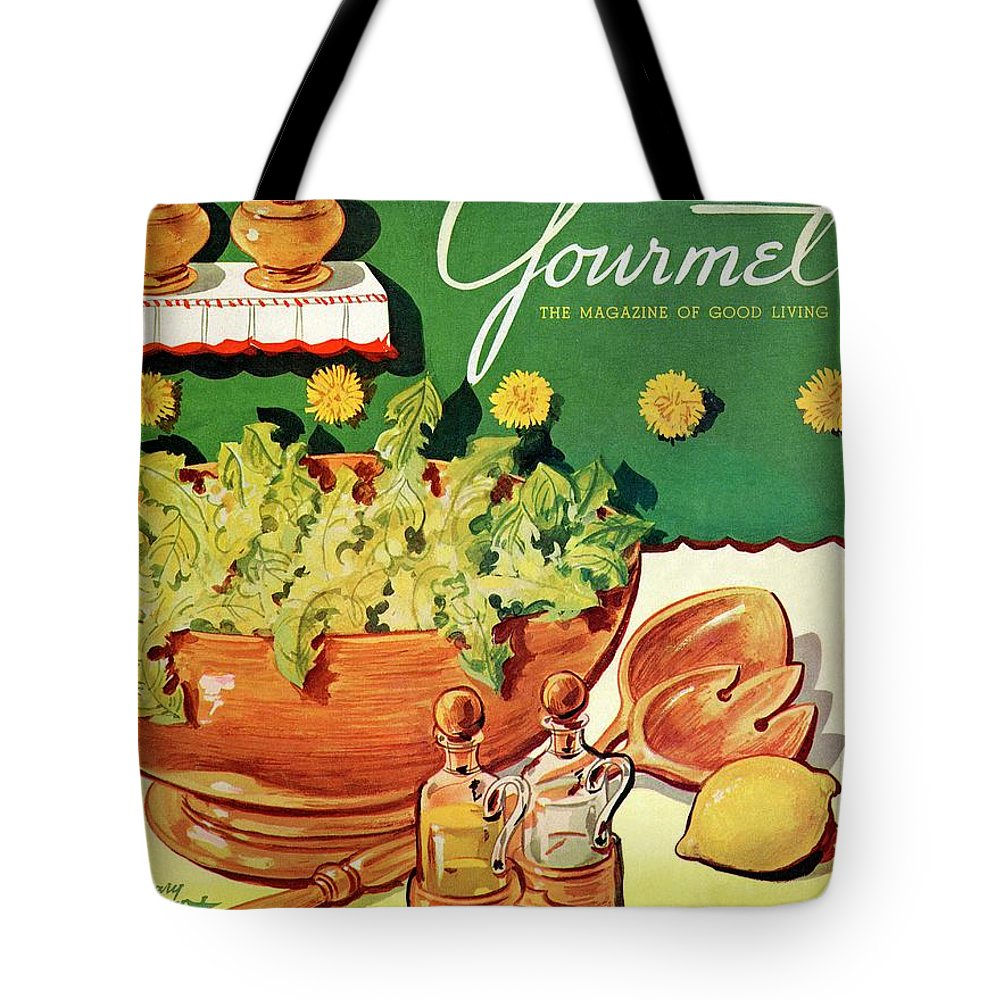 Food Tote Bag featuring the photograph A Gourmet Cover Of Dandelion Salad by Henry Stahlhut