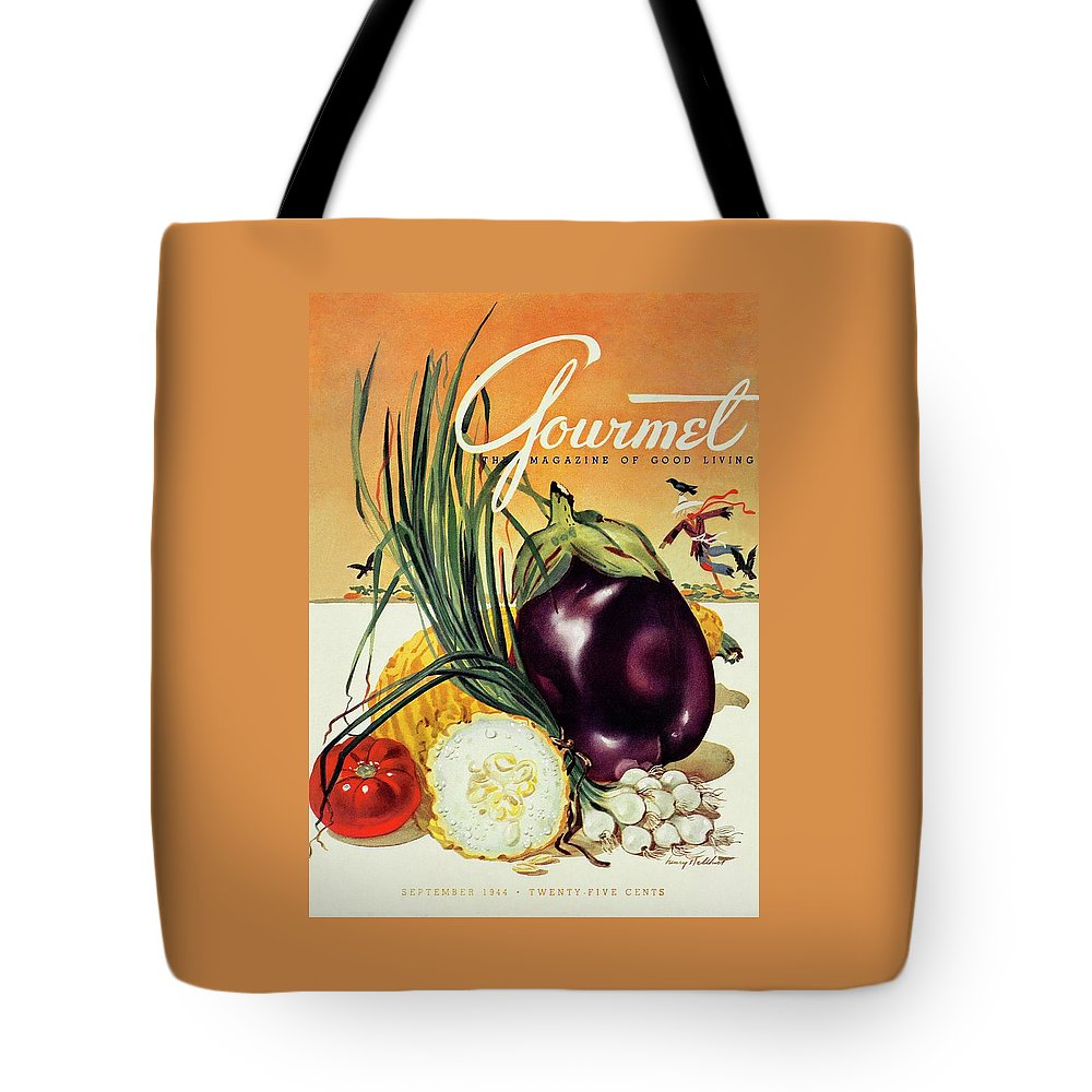 Food Tote Bag featuring the photograph A Gourmet Cover Of Vegetables by Henry Stahlhut