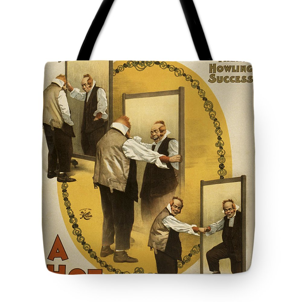 Entertainment Tote Bag featuring the drawing A Hot Old Time by Aged Pixel