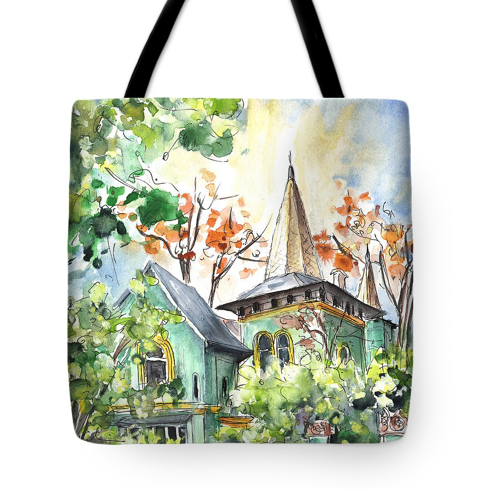 Travel Tote Bag featuring the painting A House In Our Street In Budapest by Miki De Goodaboom