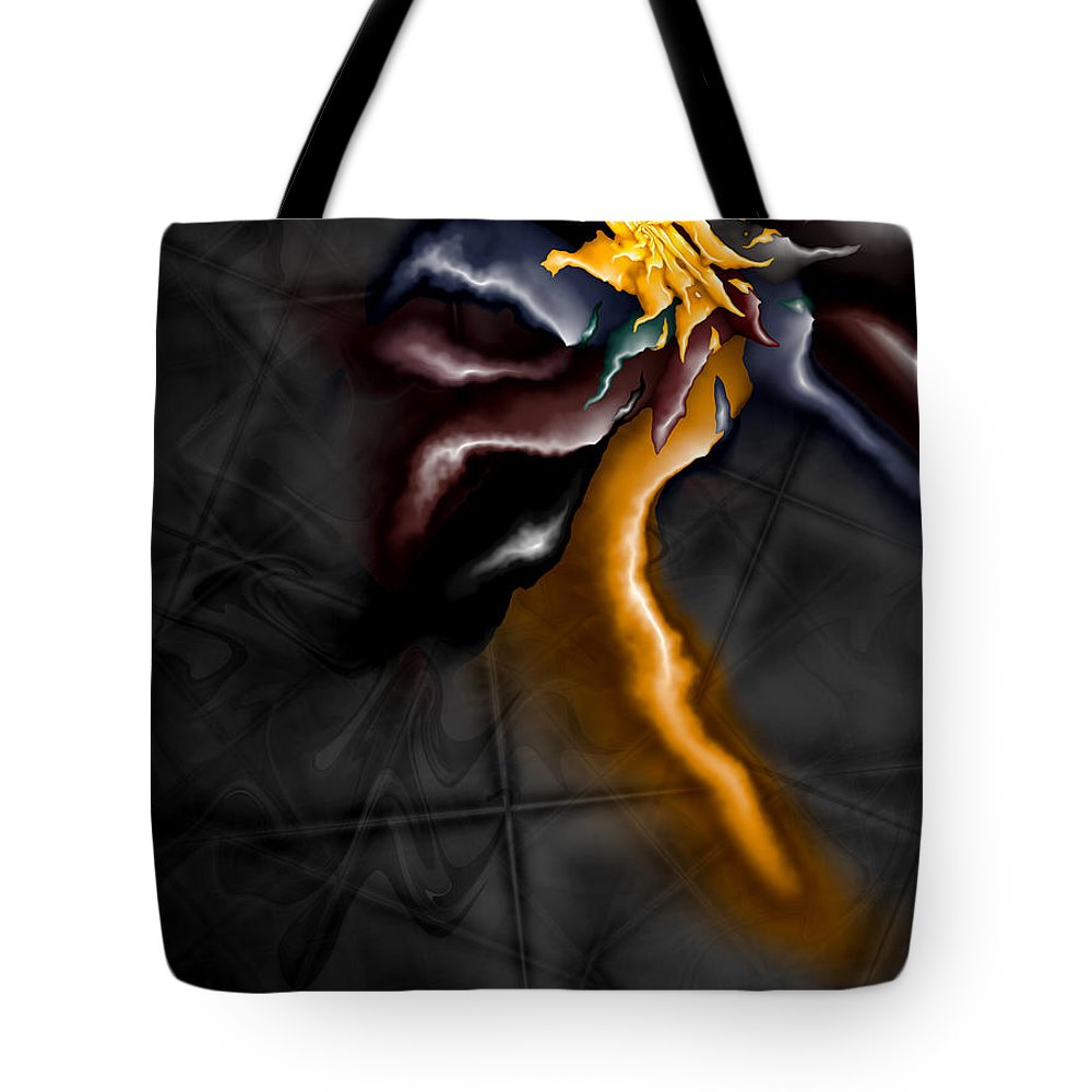A Journey Within Tote Bag featuring the digital art A Journey Within by Kimberly Hansen
