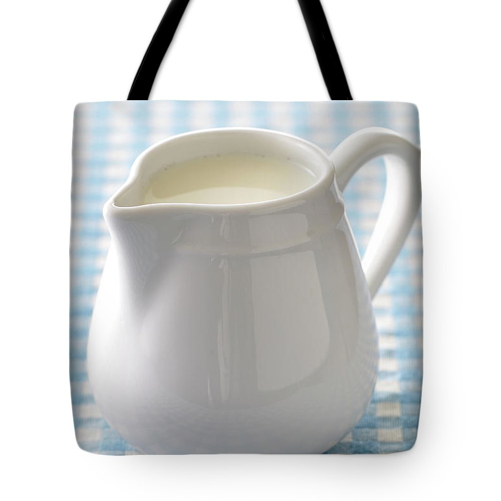 Single Object Tote Bag featuring the photograph A Jug Of Cream by Riou