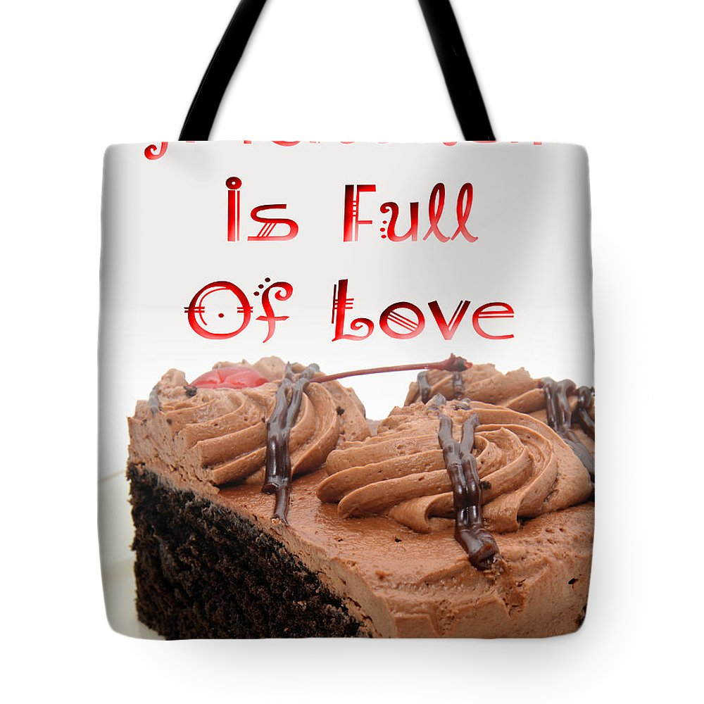 Dessert Tote Bag featuring the digital art A Kitchen Is Full Of Love 4 by Andee Design