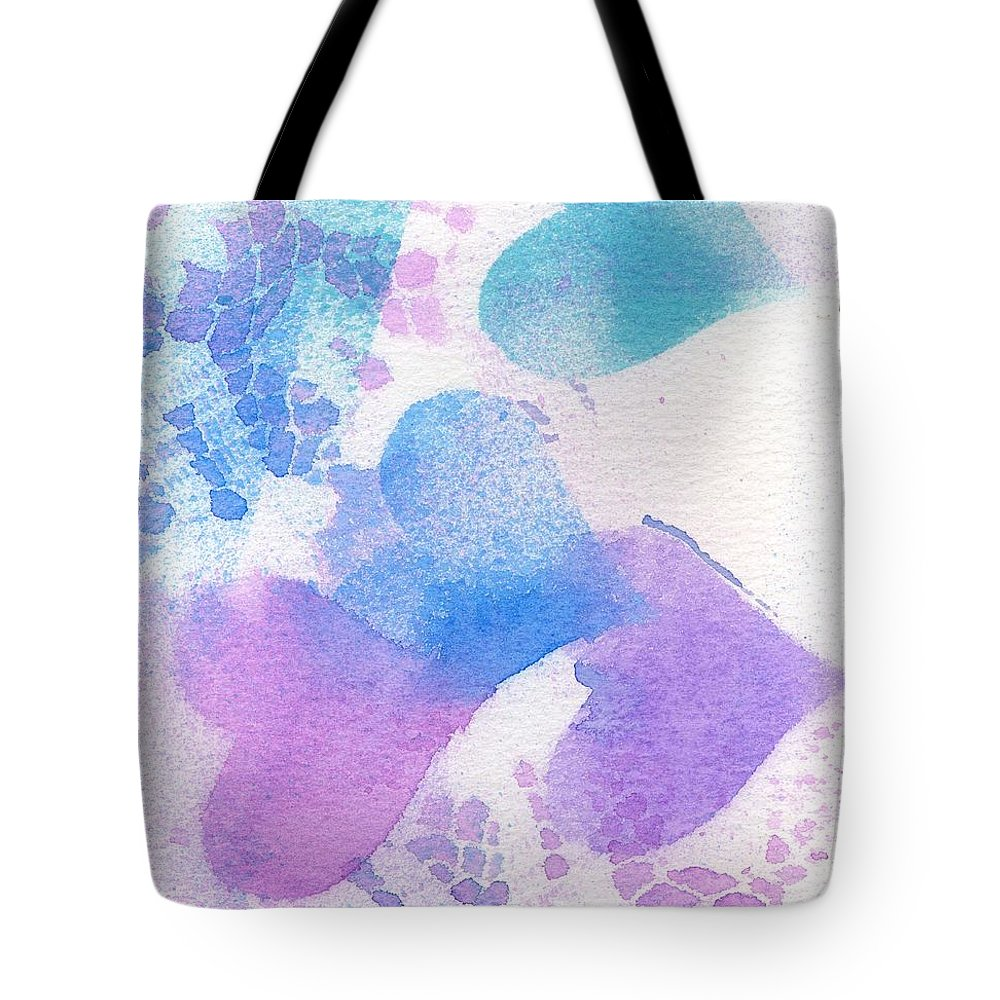 Hearts Tote Bag featuring the mixed media A Lace Of Hearts. by Wendy Le Ber