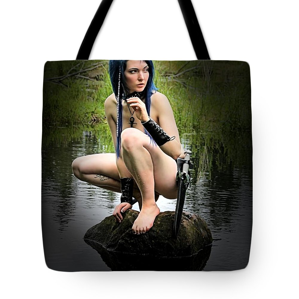 Sexy Tote Bag featuring the photograph A Lake Sprite by Jon Volden