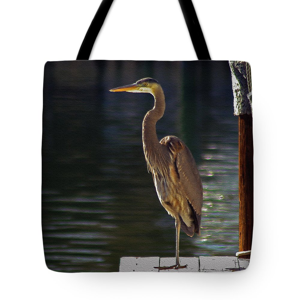 2d Tote Bag featuring the photograph A Leg To Stand On by Brian Wallace