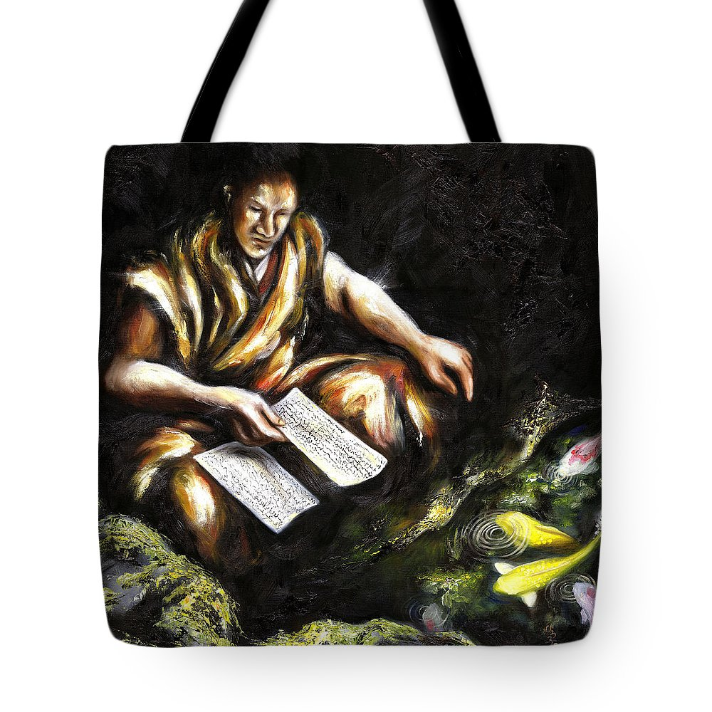 Japanesque Tote Bag featuring the painting A Letter by Hiroko Sakai