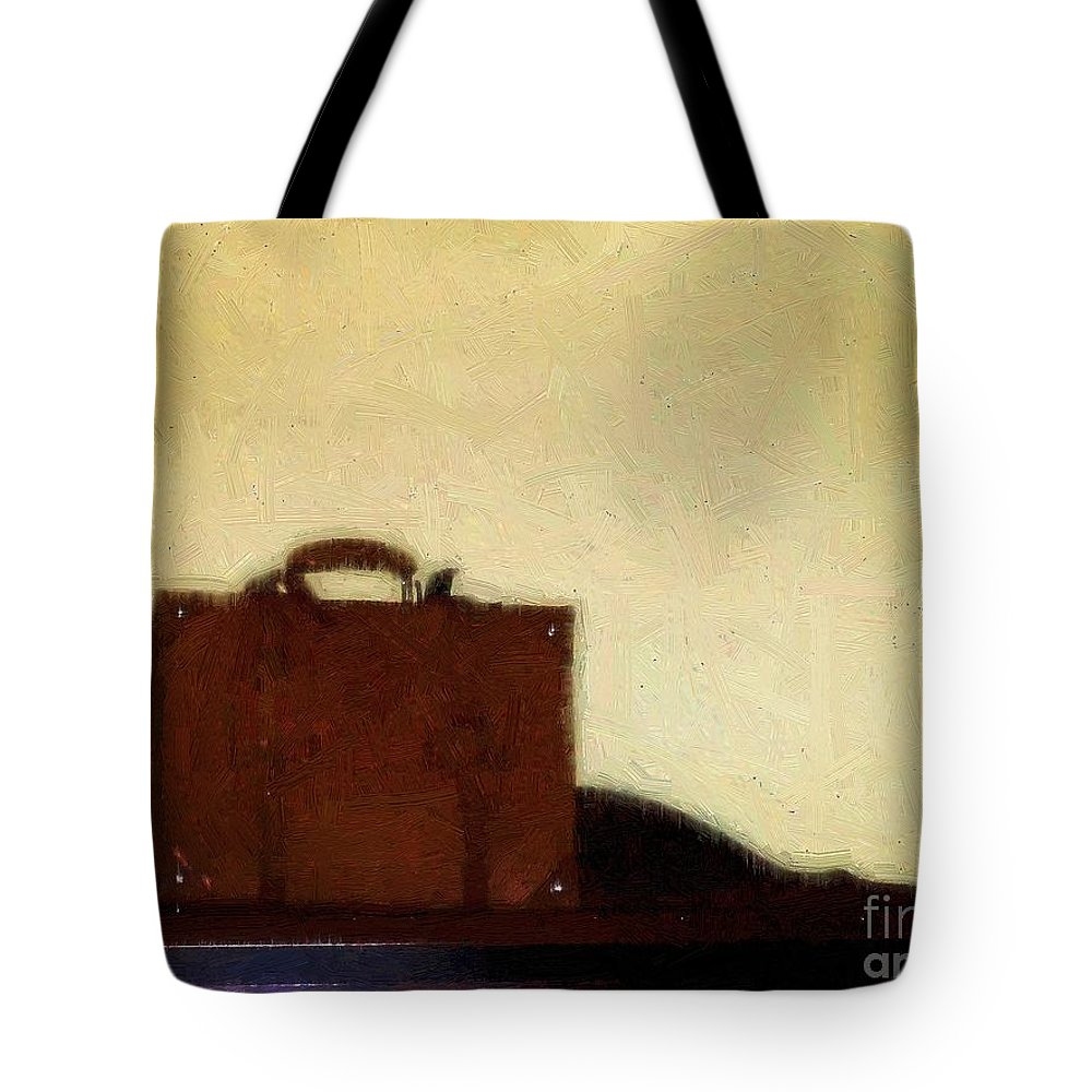 Briefcase Tote Bag featuring the painting A Life In Brief by RC DeWinter