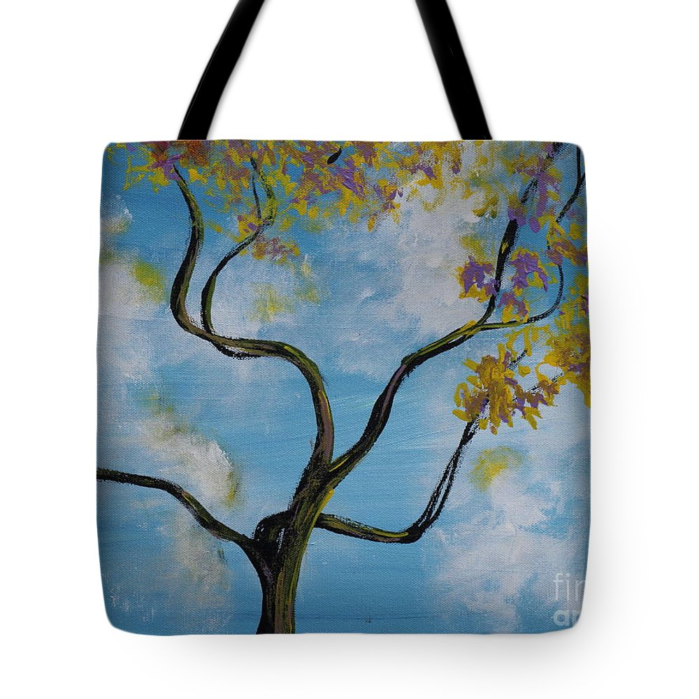 Nature Tote Bag featuring the painting A Little All Over The Place by Stefan Duncan