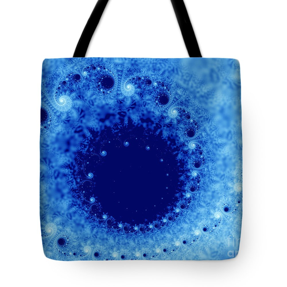 Frost Tote Bag featuring the digital art A Little Frost by Lena Auxier
