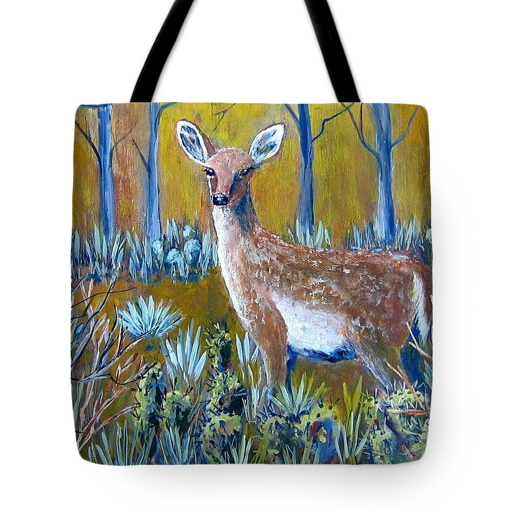 Landscape Tote Bag featuring the painting A Little Rough Around The Edges by Suzanne Theis