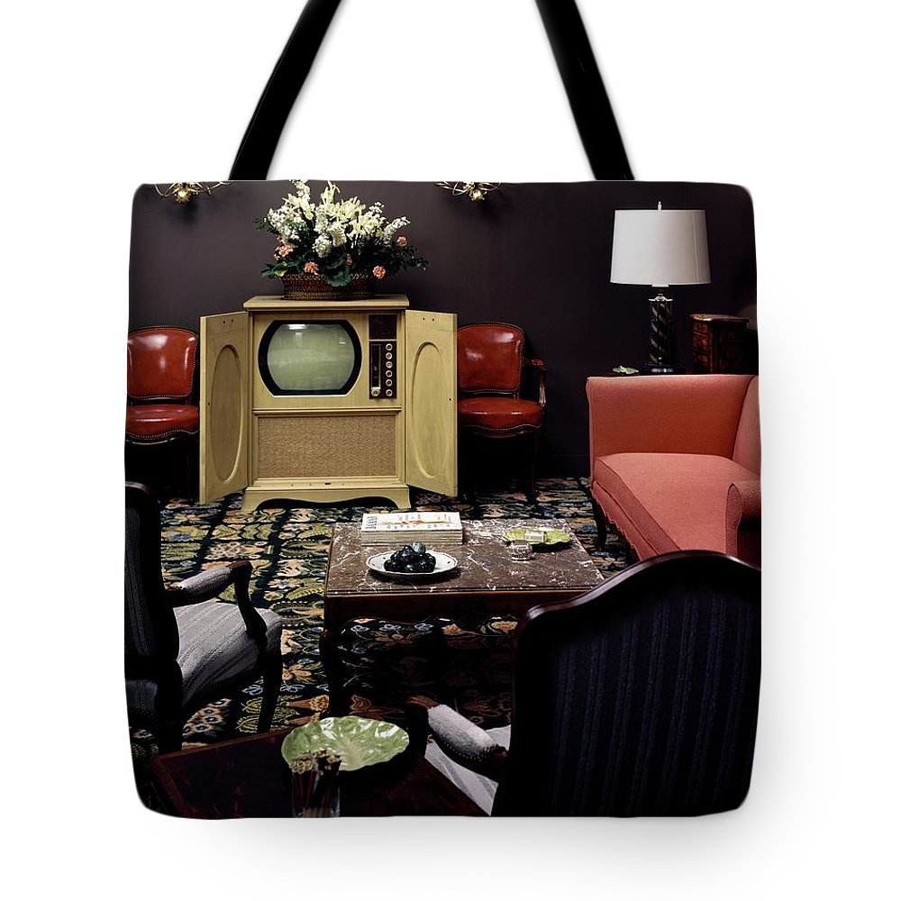 Furniture Tote Bag featuring the photograph A Living Room by Haanel Cassidy