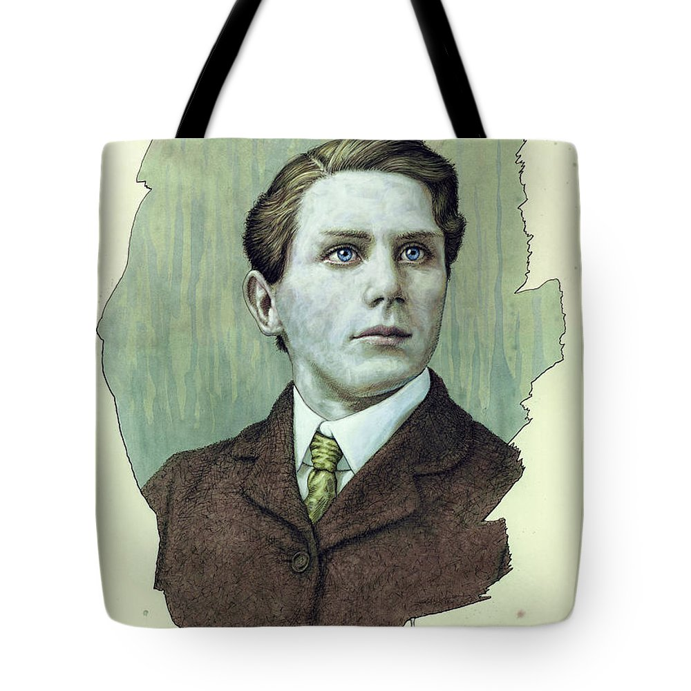 Dreamer Tote Bag featuring the painting A Man Who Used To Be A Dreamer by James W Johnson