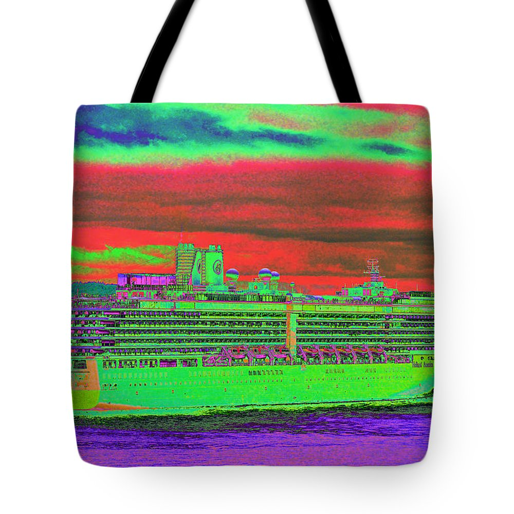 Holland America Tote Bag featuring the photograph A More Colorful HAL by Richard Henne