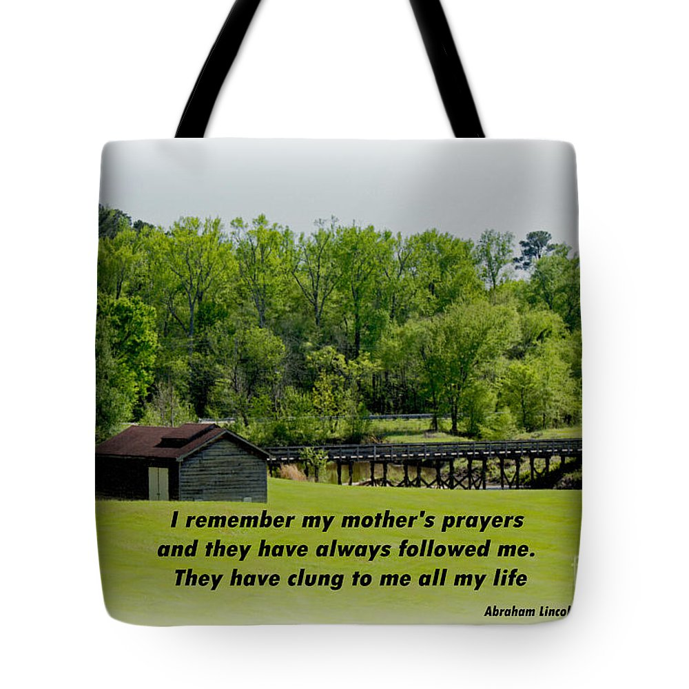 Sandra Clark Tote Bag featuring the photograph A Mother's Prayer by Sandra Clark