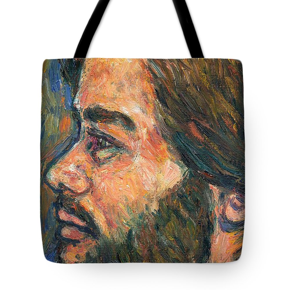 Portrait Tote Bag featuring the painting A Naturalist by Kendall Kessler
