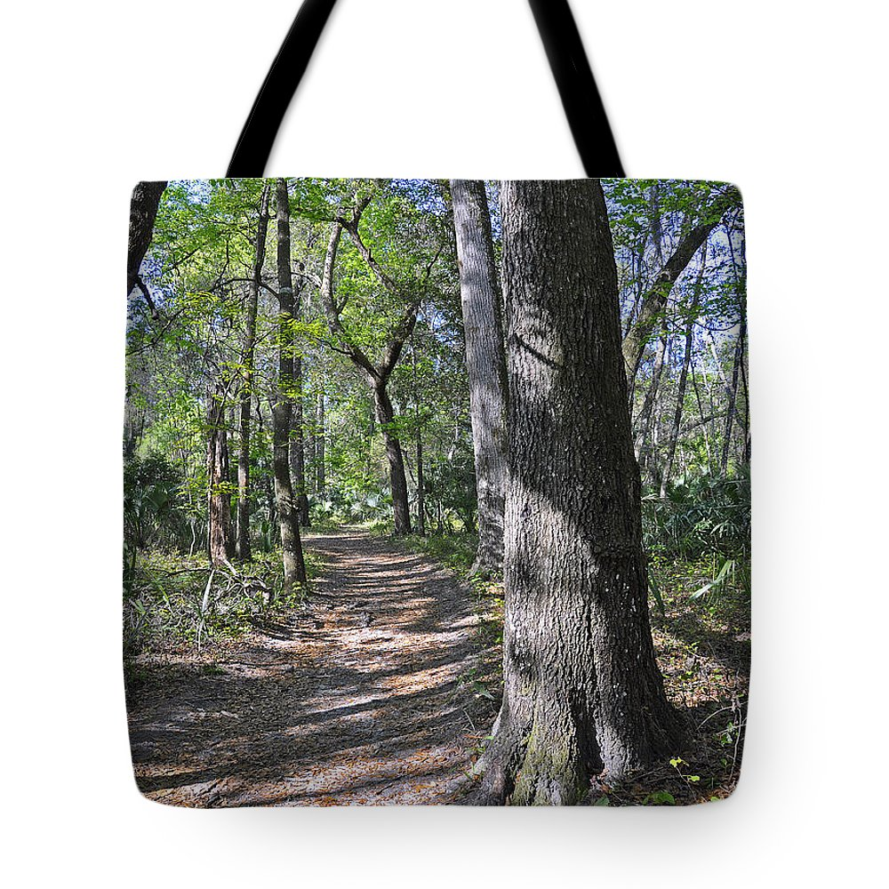 Landscapes Tote Bag featuring the photograph A Nature Walk by Deborah Good