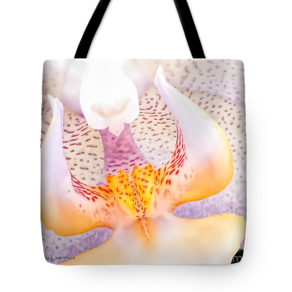 Orchid Tote Bag featuring the photograph A Neighbors Orchid by David Perry Lawrence