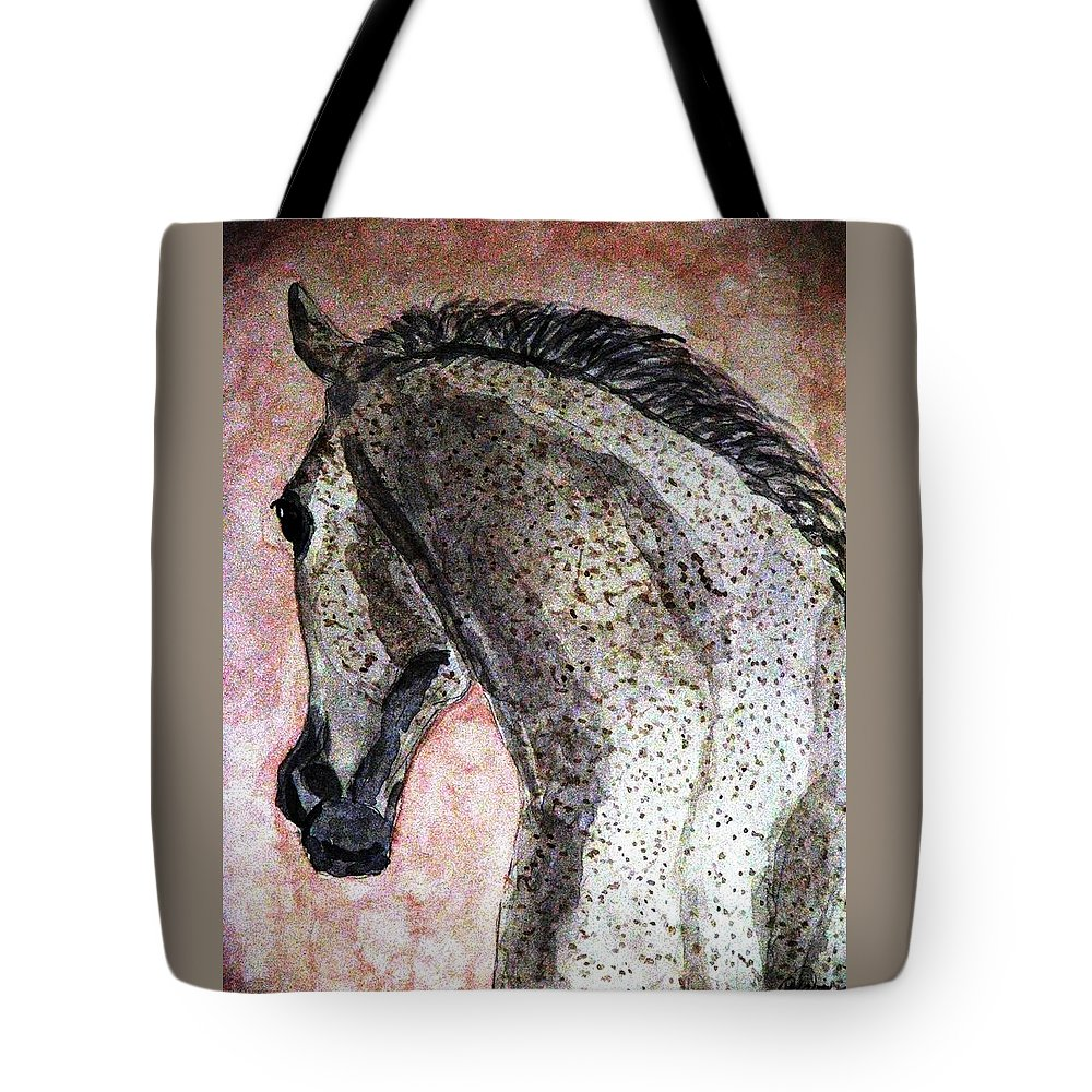 Horse Tote Bag featuring the painting A New Dawn by Angela Davies