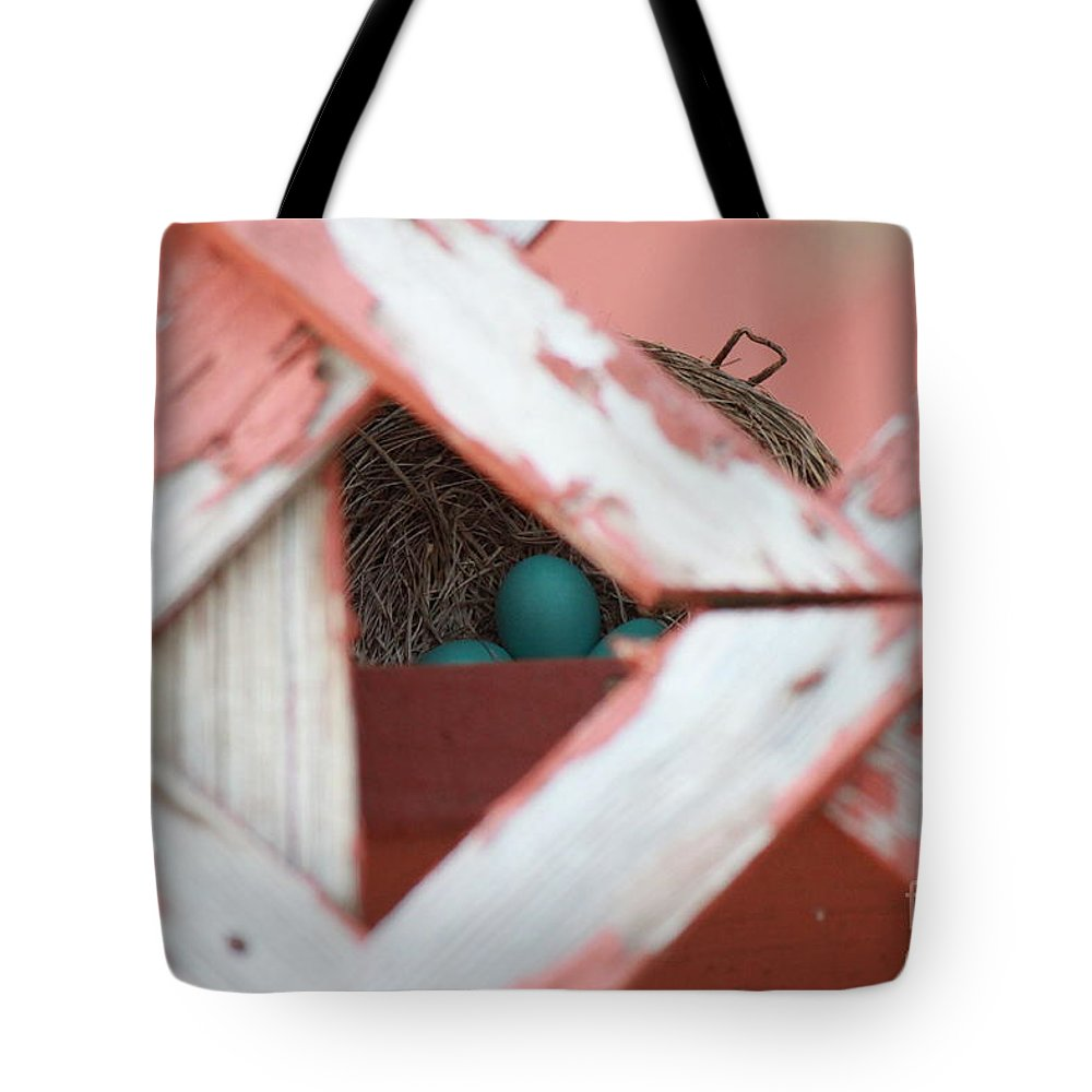 Blue Tote Bag featuring the photograph A New Life Is Beginning by Jennifer E Doll