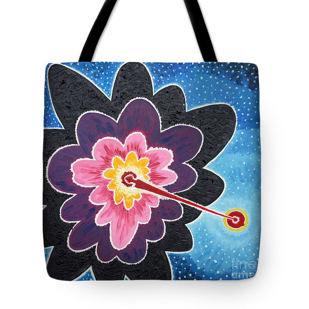 Star Tote Bag featuring the painting A New Star Is Born. by Taikan Nishimoto