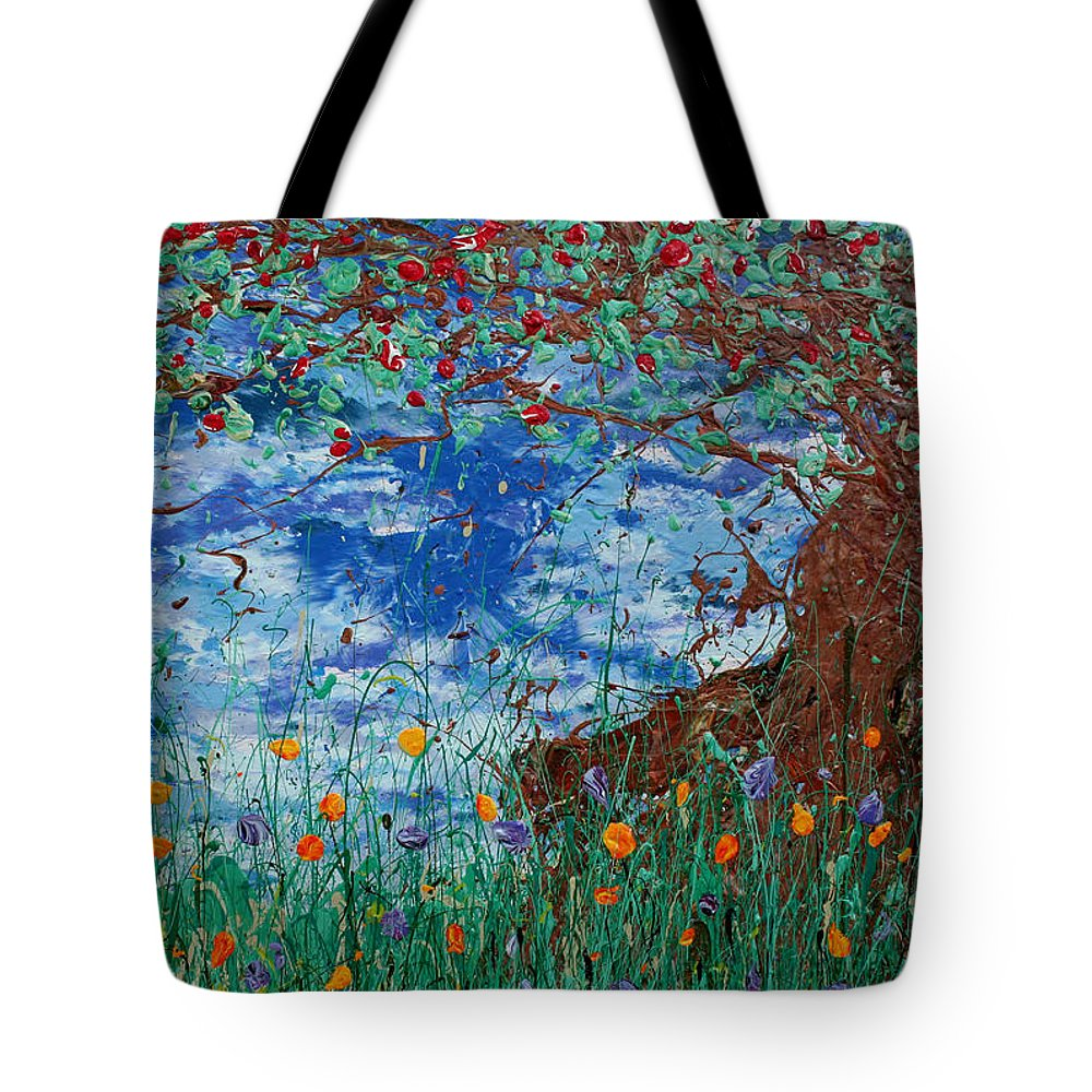 Decorator Art Tote Bag featuring the painting A Nice Place For A Nap by Ric Bascobert