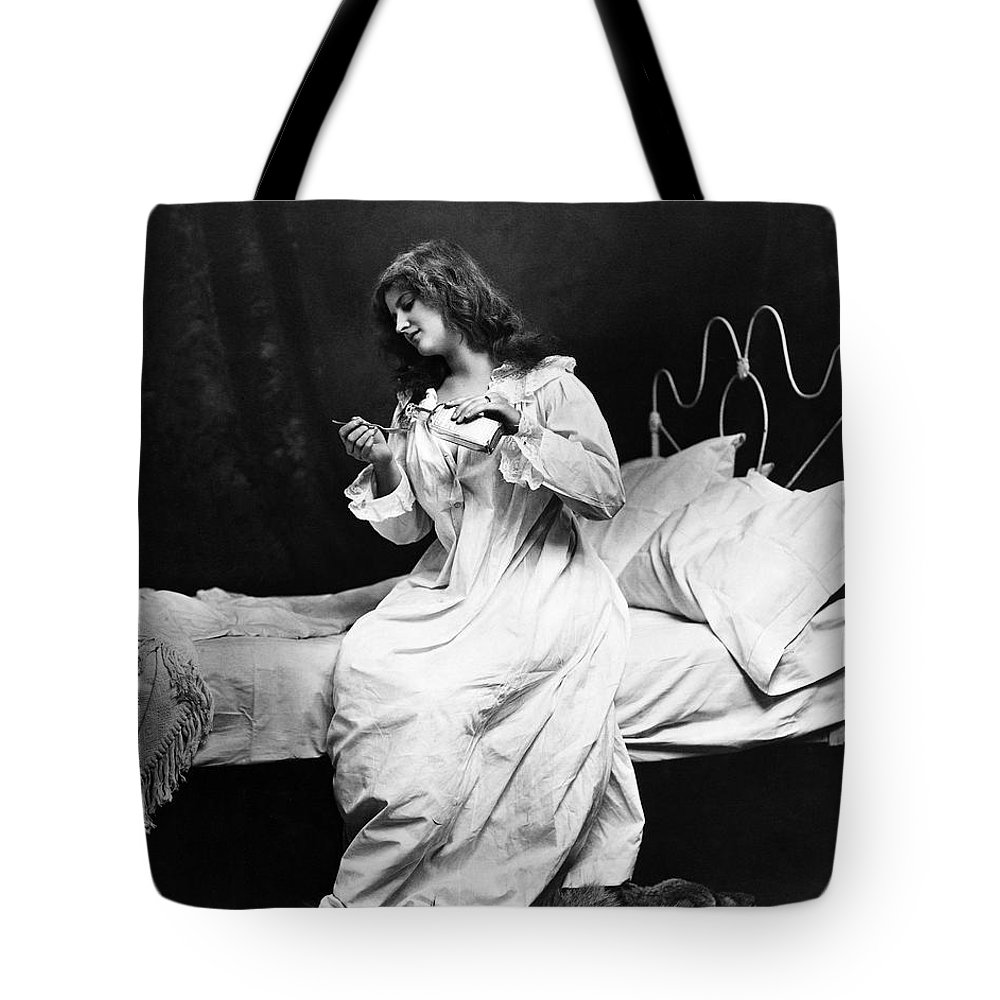 1901 Tote Bag featuring the photograph A Night Cap, 1901 by Granger