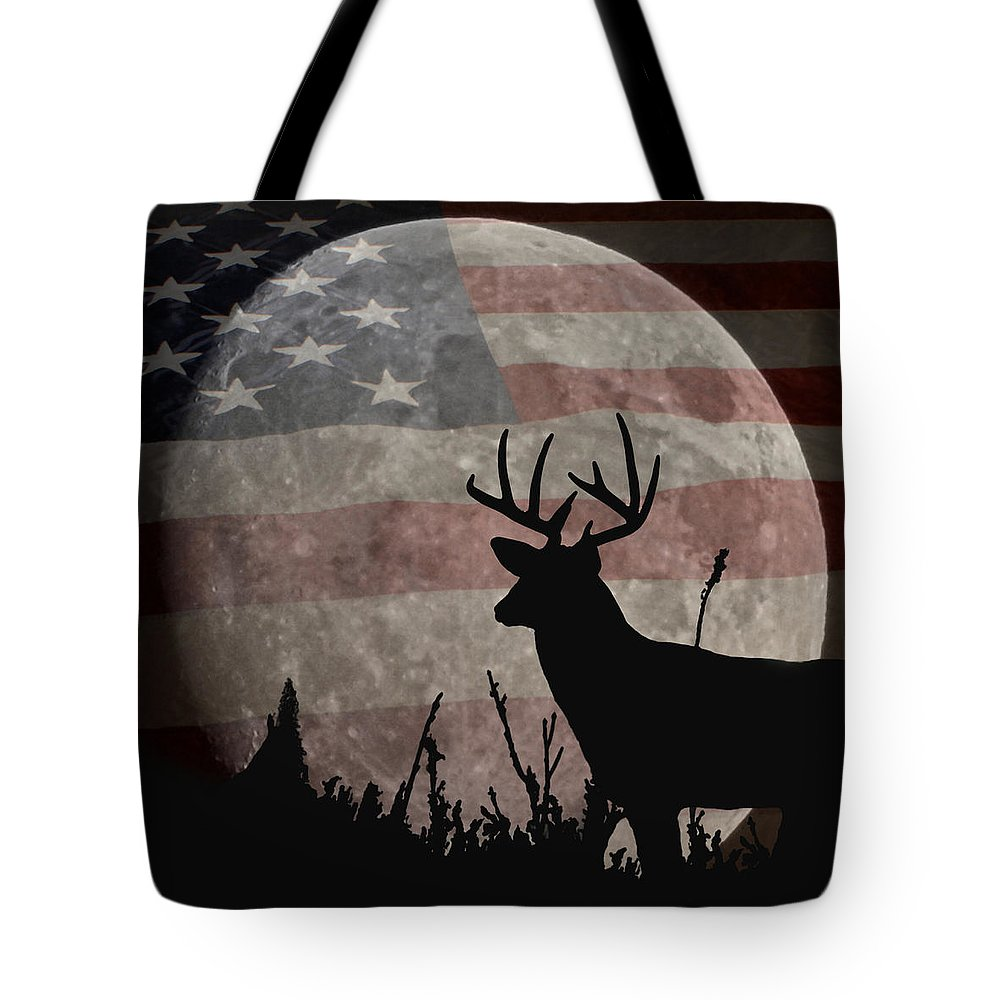 A Night Vision Tote Bag featuring the digital art A Night Vision by Ernie Echols
