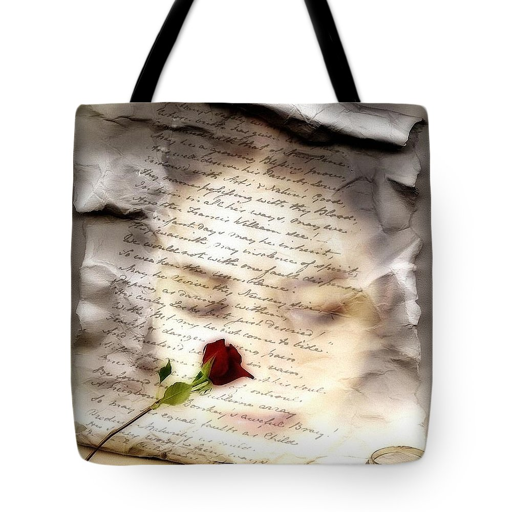 Woman Tote Bag featuring the digital art A Note And She Was Gone by Gun Legler