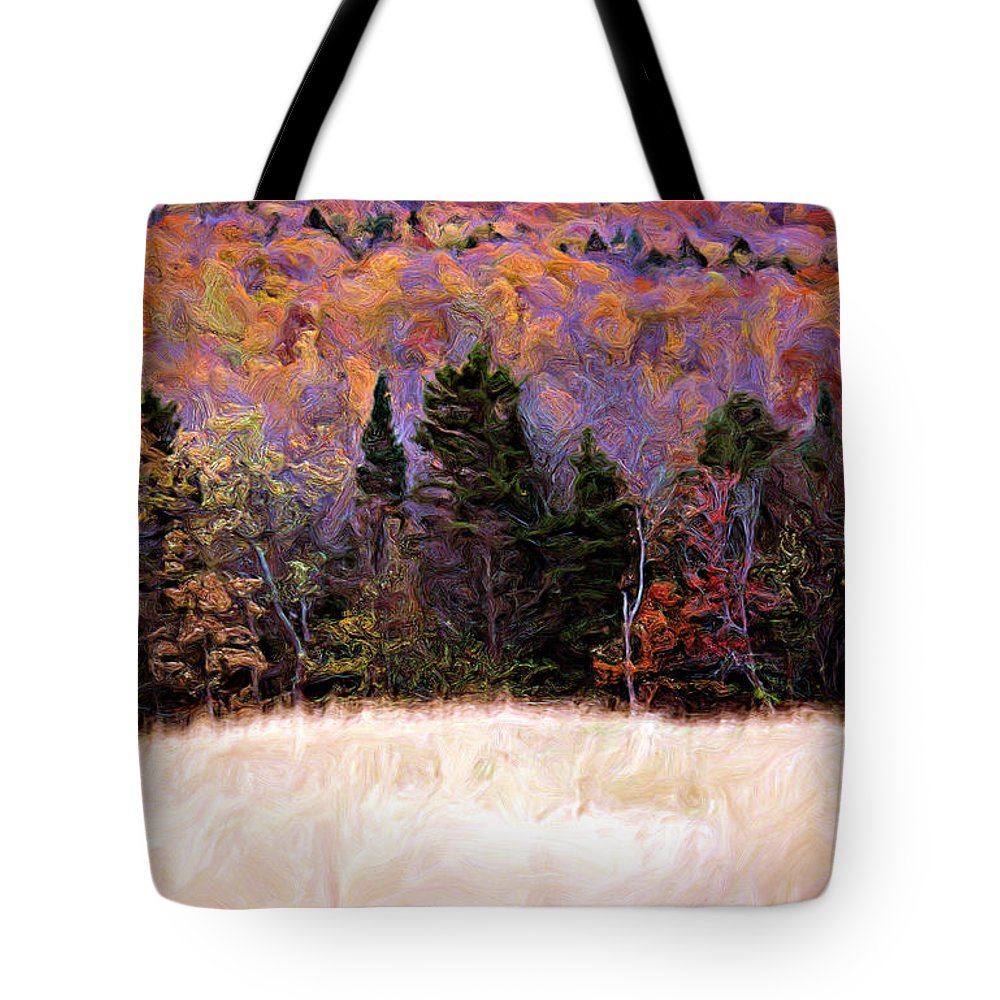 Painting Tote Bag featuring the photograph A Painting Autumn Field by Mike Nellums