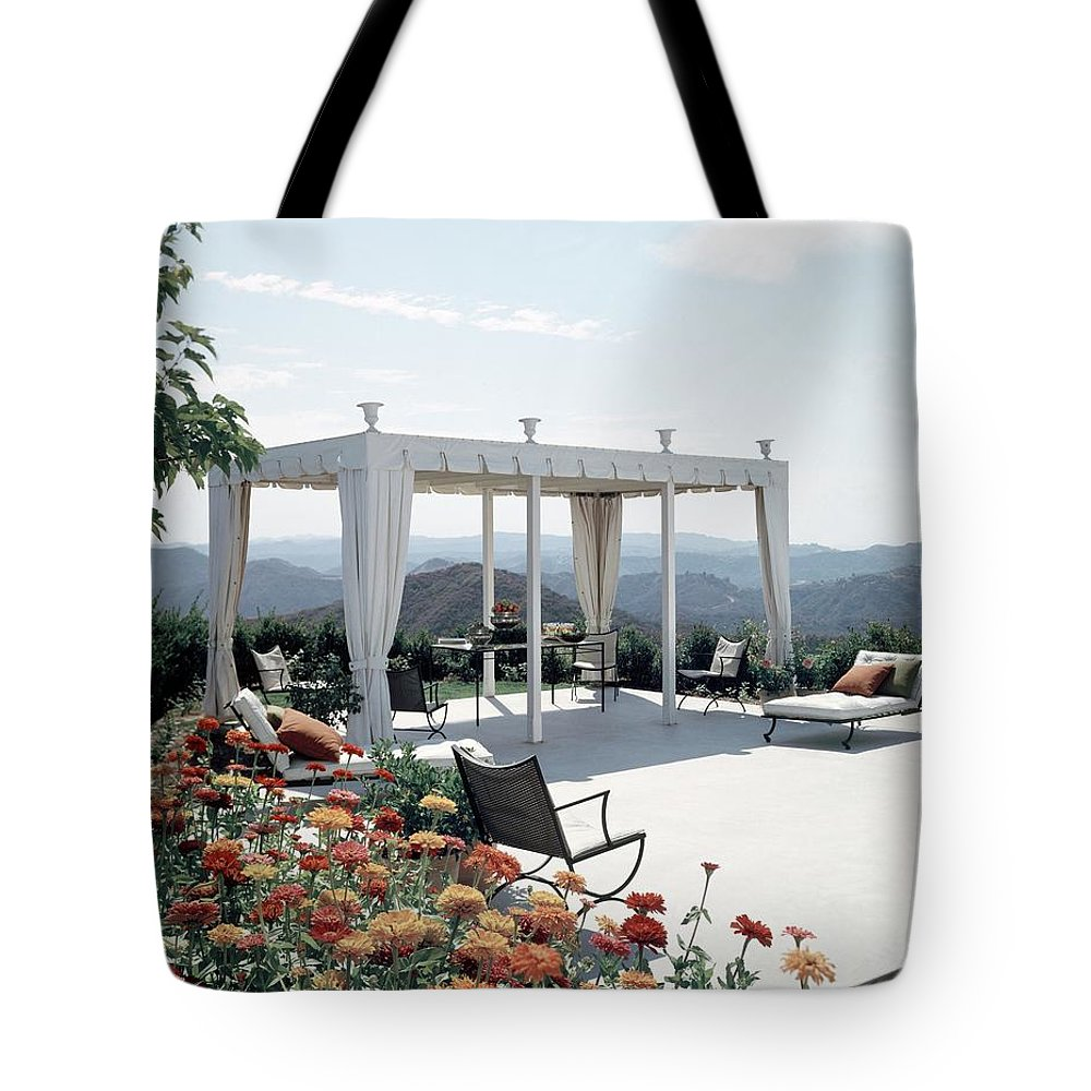Nobody Tote Bag featuring the photograph A Pavilion In The Backyard Of Bruce Macintosh's by George De Gennaro