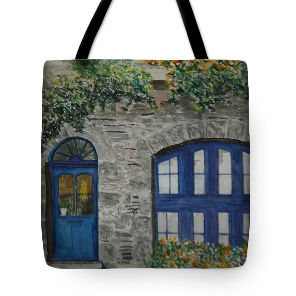 France Tote Bag featuring the painting A Picturesque Corner Of France by Betty-Anne McDonald