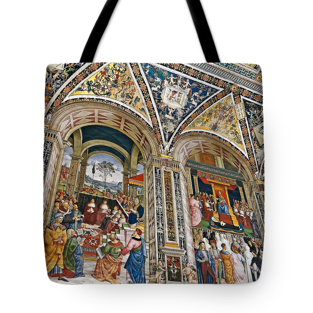 Piccolomini Library Tote Bag featuring the photograph A Piece Of The Piccolomino by Ira Shander