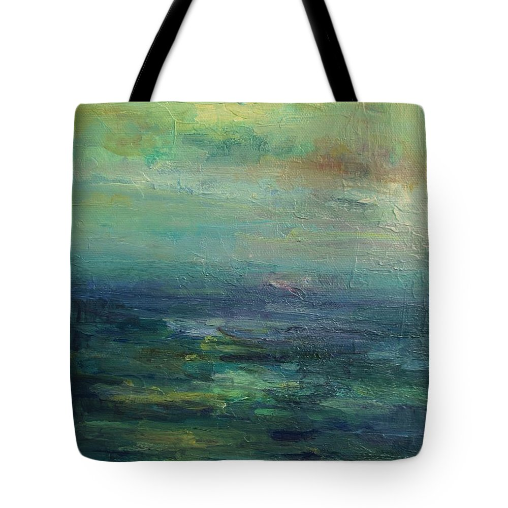Impressionism Tote Bag featuring the painting A Place For Peace by Mary Wolf