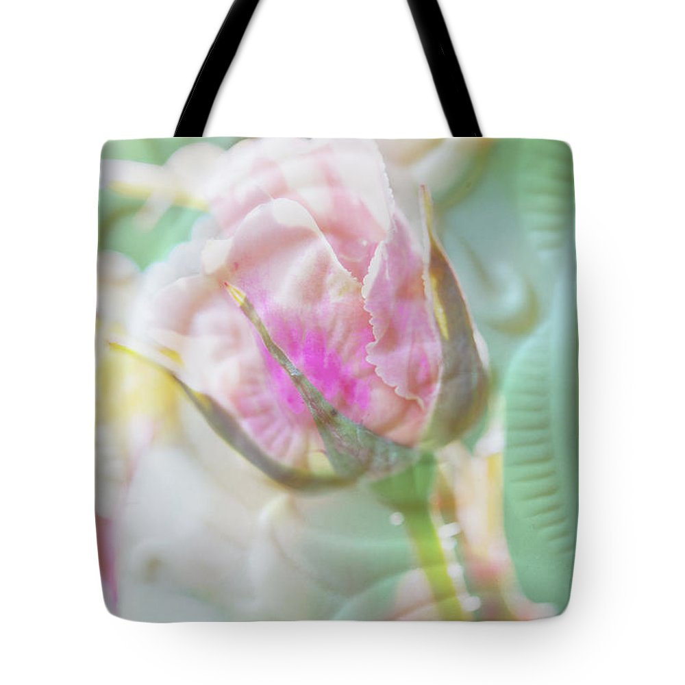 Rose Tote Bag featuring the photograph A Porcelain Rose by Marie Jamieson