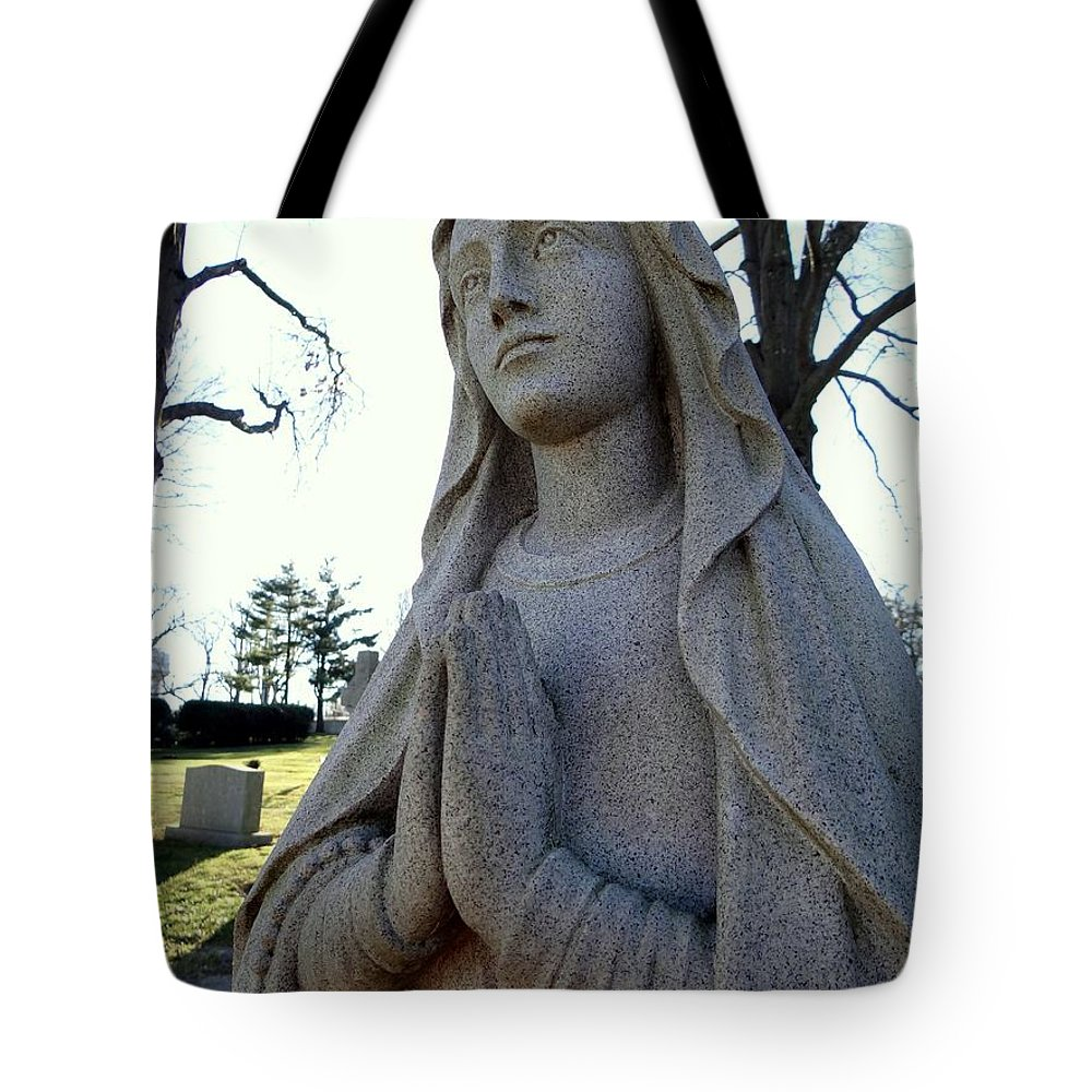 Statue Tote Bag featuring the photograph A Prayer by Ed Weidman