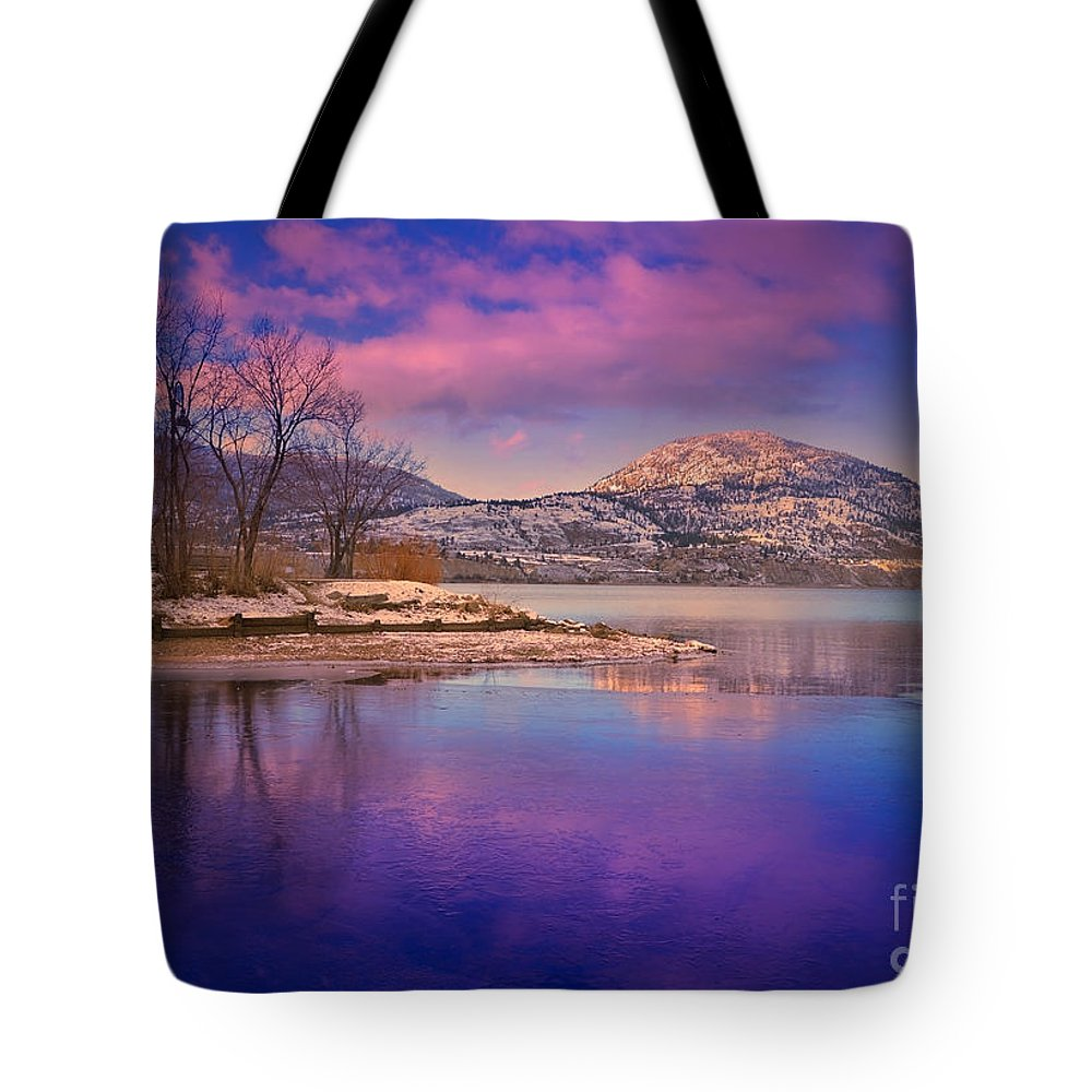Lake Tote Bag featuring the photograph A Purple Surrender by Tara Turner