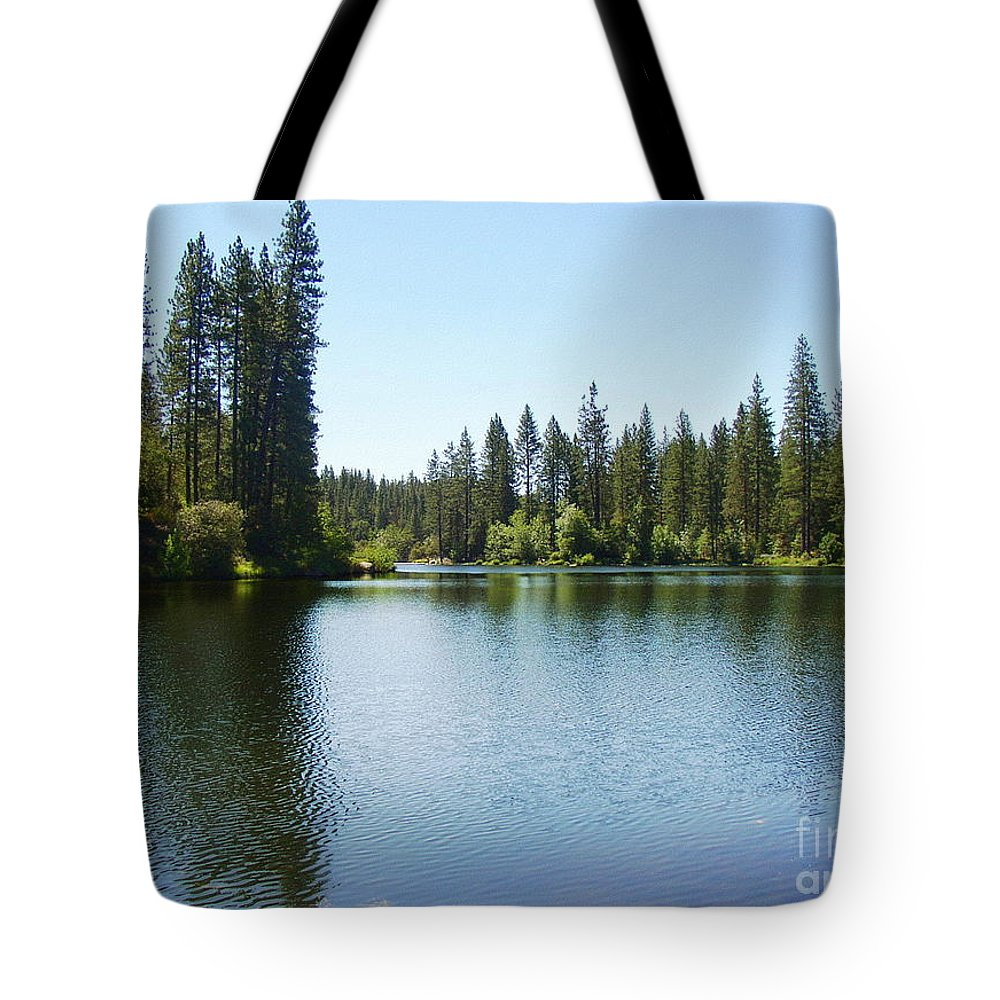 Bass Lake Tote Bag featuring the photograph A Quiet Place - Bass Lake by Glenn McCarthy Art and Photography