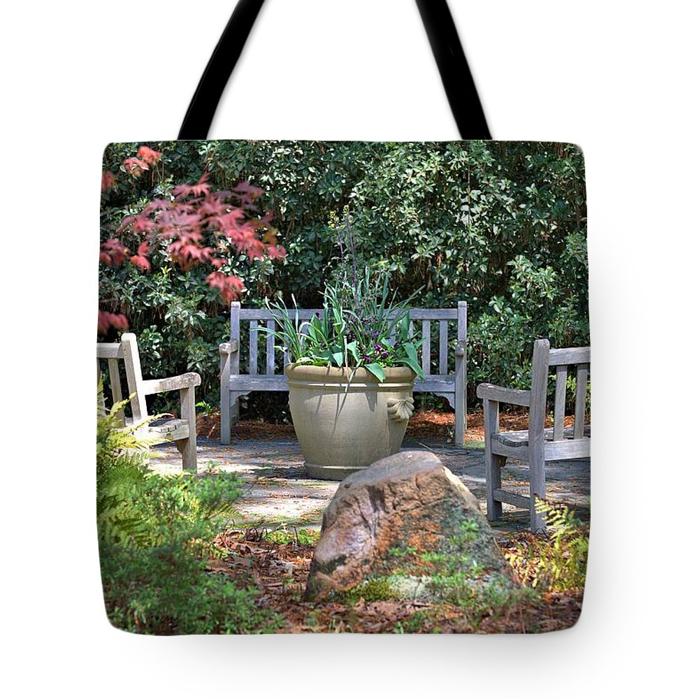 8381 Tote Bag featuring the photograph A Quiet Place To Meet by Gordon Elwell