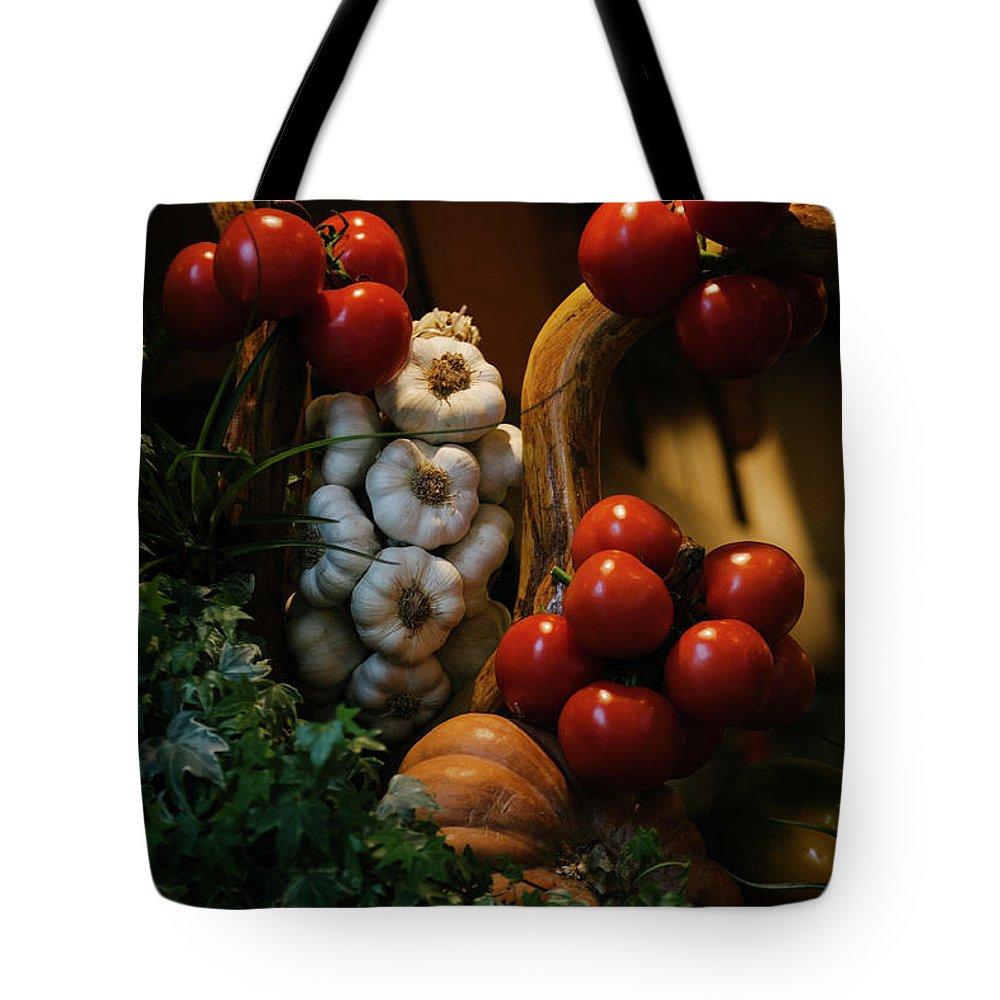 Freshness Tote Bag featuring the photograph A Restaurants Front Window Display by Matt Propert