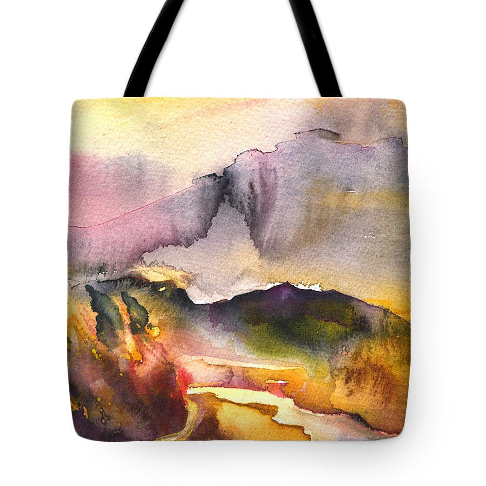 Travel Tote Bag featuring the painting A River In France by Miki De Goodaboom