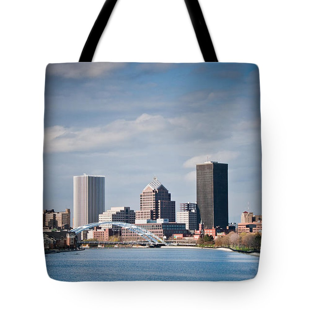 Rochester Tote Bag featuring the photograph A River Runs Through It by Ken Marsh