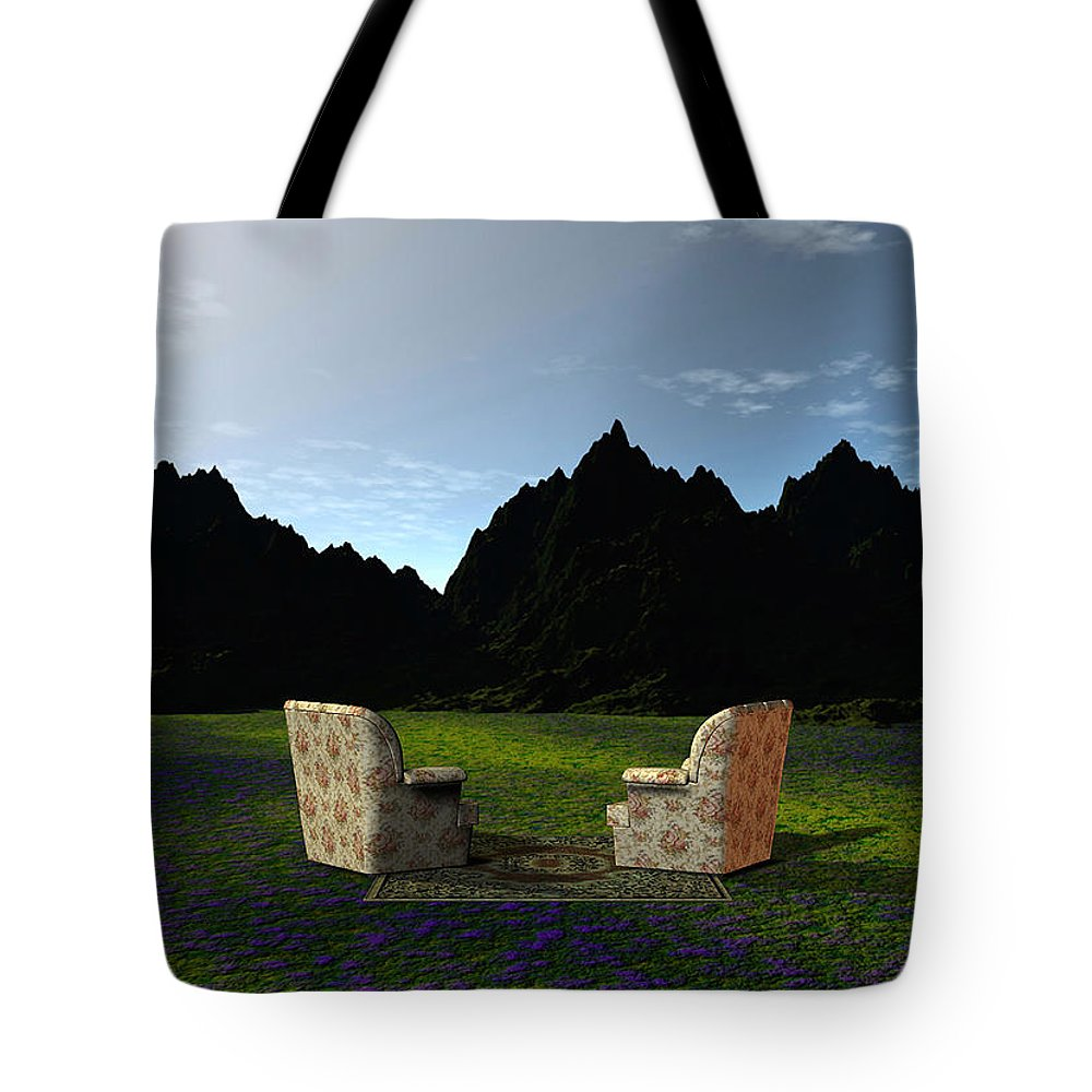 Room View Tote Bag featuring the painting A Room With A View by Barbara Milton
