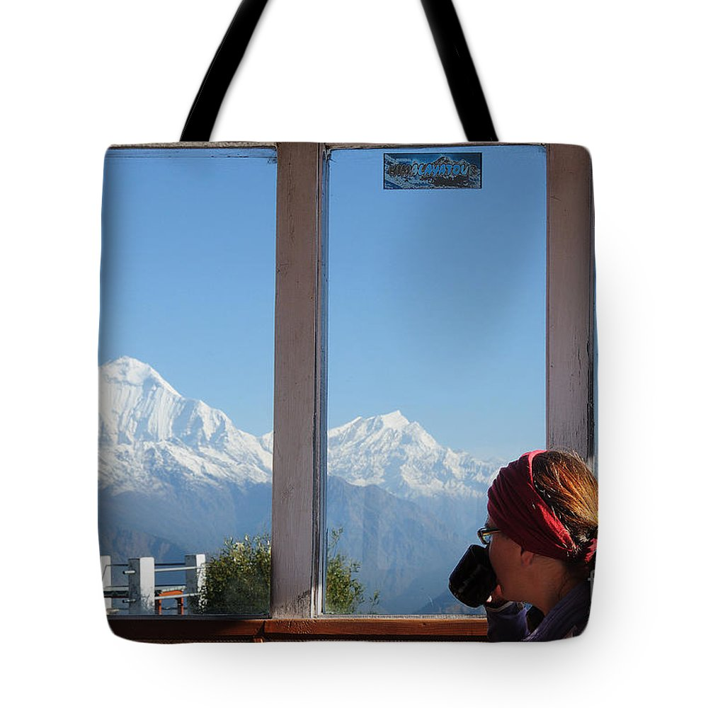 Room Tote Bag featuring the photograph A Room With A View by Colin Woods