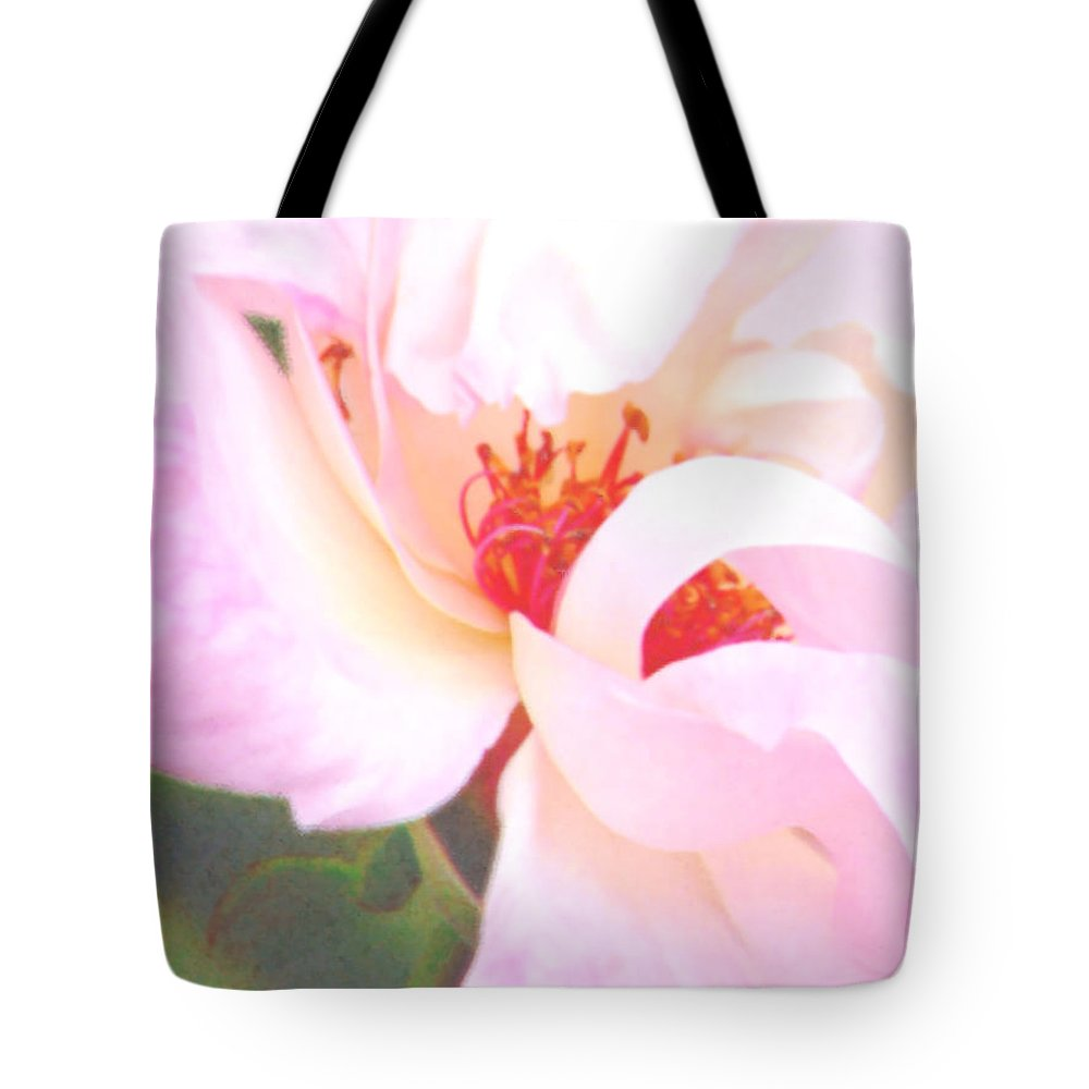 Rose Tote Bag featuring the photograph A Rose Unfurls by Pamela Patch