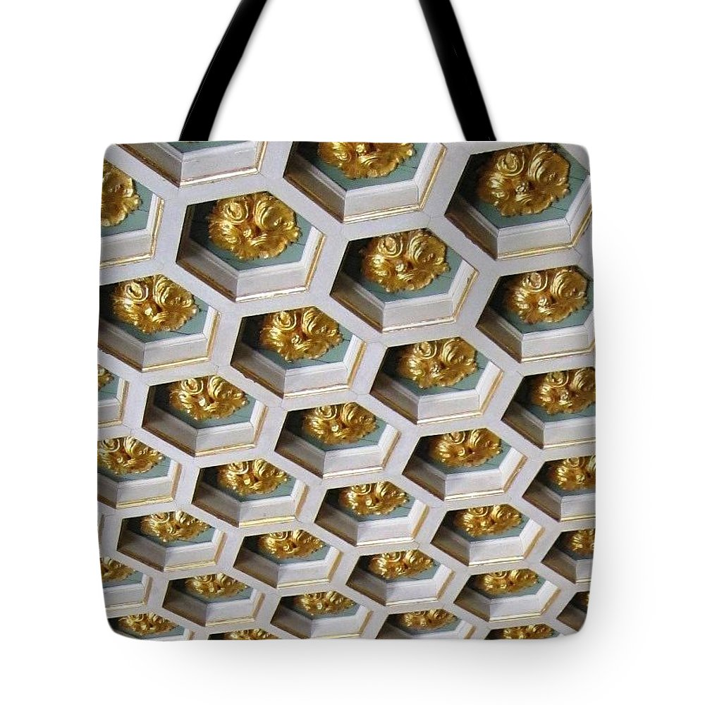 Ceiling Tote Bag featuring the photograph A Royal Ceiling by Teresa Ruiz