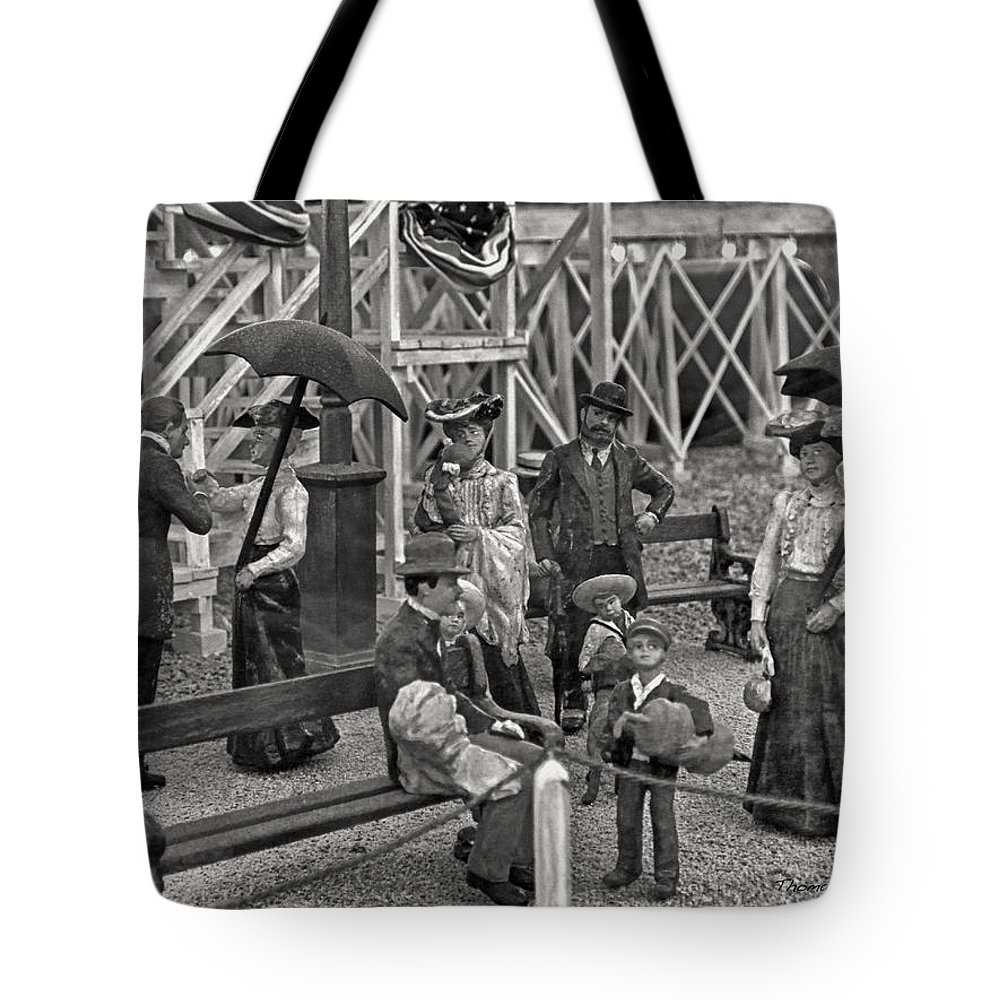 People Tote Bag featuring the photograph A Simpler Way Of Life Sunday Afternoon by Thomas Woolworth