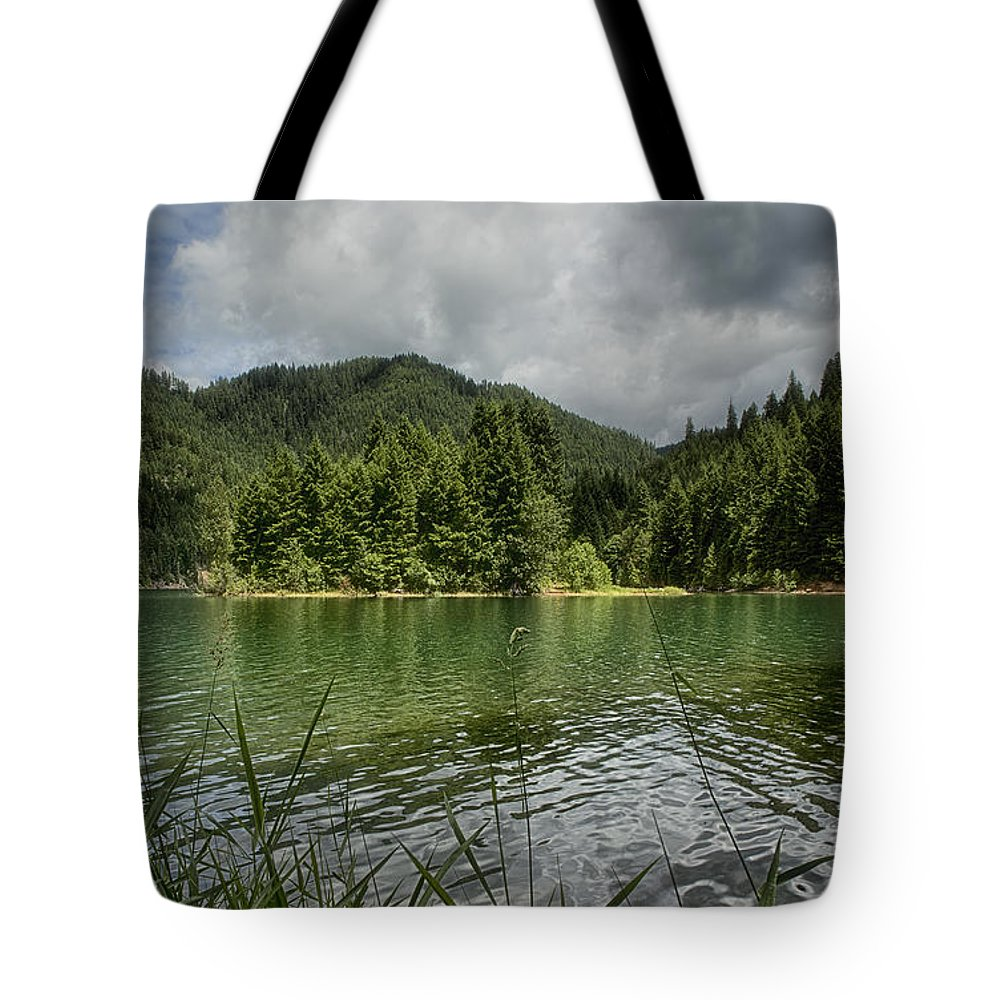 Nature Tote Bag featuring the photograph A Small Island by Belinda Greb